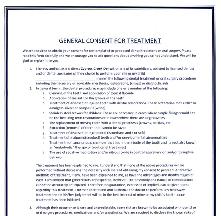 General Consent